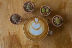 de koffie van de koffiekop/nadruk Stock Fotografie