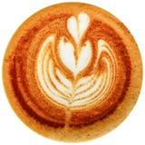 De koffie van de Lattekunst op witte achtergrond wordt geïsoleerd die Royalty-vrije Stock Afbeelding