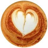 De koffie van de Lattekunst op witte achtergrond wordt geïsoleerd die Stock Afbeeldingen
