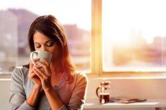 De koffie van de levensstijl stock foto's
