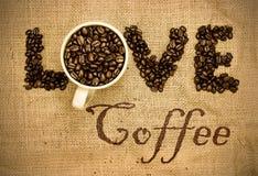 De koffie van de liefde Stock Afbeeldingen