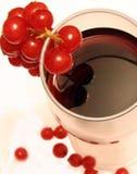 De koffie van de mok en bessen van de rode aalbes Stock Afbeeldingen