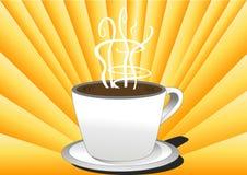 De koffie van de ochtend in zon Royalty-vrije Stock Foto's