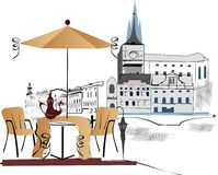 De koffie van de straat vector illustratie
