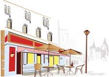 De koffie van de straat stock illustratie