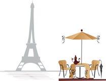 De koffie van de straat in Parijs royalty-vrije illustratie