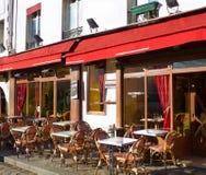 De koffie van de straat in Parijs royalty-vrije stock fotografie