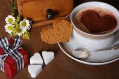 De koffie van de valentijnskaart Stock Foto