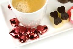 De koffie van de valentijnskaart Stock Foto's