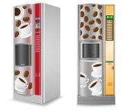 De koffie van de verkoop is een machine vectorillustratie Stock Afbeeldingen