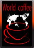 De Koffie van de wereld Stock Afbeelding