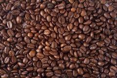 De koffie van het achtergrond close-up textuur. Bruin Stock Afbeeldingen