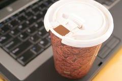 De koffie van het bureau royalty-vrije stock afbeeldingen