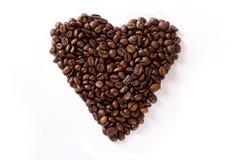 De Koffie van het hart Royalty-vrije Stock Foto