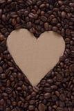 De Koffie van het hart Stock Foto's