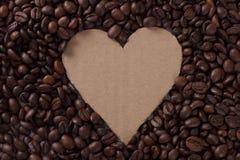 De Koffie van het hart Royalty-vrije Stock Fotografie