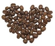 De koffie van het hart royalty-vrije stock afbeelding