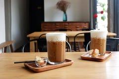 De koffie van het ijs in koffiewinkel Stock Fotografie