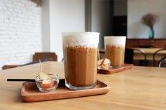 De koffie van het ijs in koffiewinkel Royalty-vrije Stock Afbeeldingen