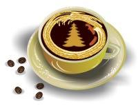 De Koffie van het nieuwjaar Royalty-vrije Stock Afbeeldingen