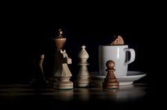 De Koffie van het schaak royalty-vrije stock fotografie