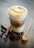 De koffie van ijsmacchiato Stock Afbeelding
