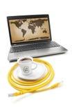 De Koffie van Internet stock fotografie