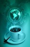 De Koffie van Internet Stock Foto's