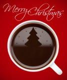 De koffie van Kerstmis Stock Afbeelding