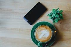 De koffie van Latte Stock Afbeeldingen