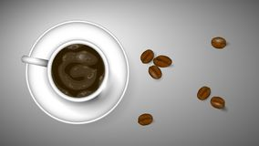 De koffie van de ochtend royalty-vrije illustratie
