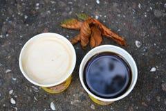 De koffie van de ochtendherfst Royalty-vrije Stock Fotografie