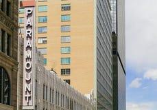 De Koffie van Paramount in Denver Stock Foto