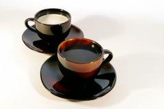 De koffie vormt 1 tot een kom royalty-vrije stock foto's