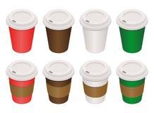 De koffie vormt isometrisch tot een kom royalty-vrije stock afbeeldingen