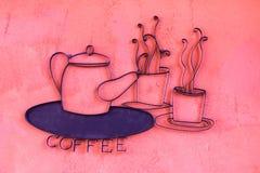 De koffie zingt Stock Foto's