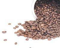 De koffiebonen in metaal kunnen Stock Afbeelding