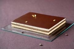 ` De Koffiecake van de opera` Chocolade Stock Afbeeldingen