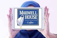 De koffieembleem van het Maxwellhuis Stock Afbeeldingen