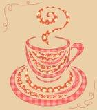De koffiekop 2 van het lapwerk. Royalty-vrije Stock Fotografie