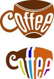 De koffiekop van de typografie Royalty-vrije Stock Foto