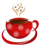 De koffiekop van Kerstmis Stock Fotografie