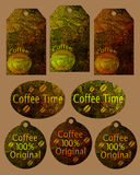 De koffiemarkering van de inzameling Royalty-vrije Stock Afbeelding