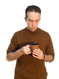De Koffiepauze van de werknemer royalty-vrije stock foto