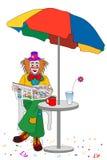 De koffiepauzes van de clown Stock Foto's