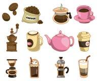De koffiepictogram van het beeldverhaal Royalty-vrije Stock Afbeeldingen