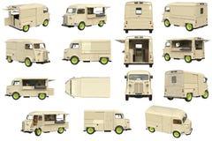 De koffiereeks van de voedselvrachtwagen Stock Afbeeldingen