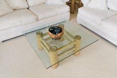De koffietafel van het glas stock fotografie