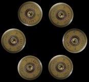 De kogels van het jachtgeweer - oorlogsconcept Stock Afbeelding
