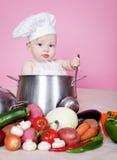 De kok van de baby Stock Afbeeldingen